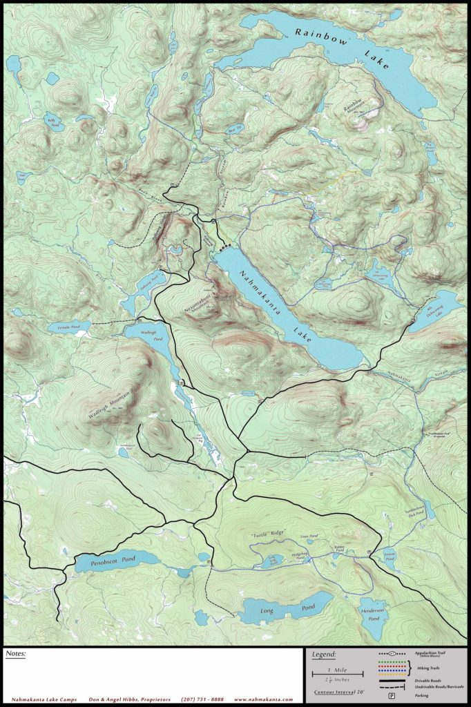Nahmakanta Lake Map